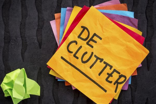 Decluttering after Christmas