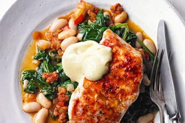 Smoky hake, beans & greens post image on the-journal.es