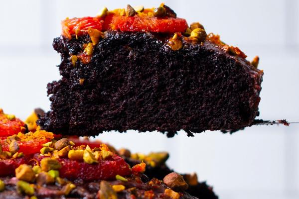 Chocolate and Blood Orange Cake