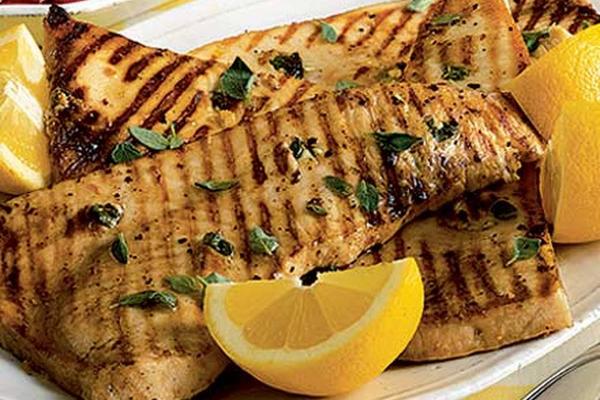 Lemon and Mint Swordfish
