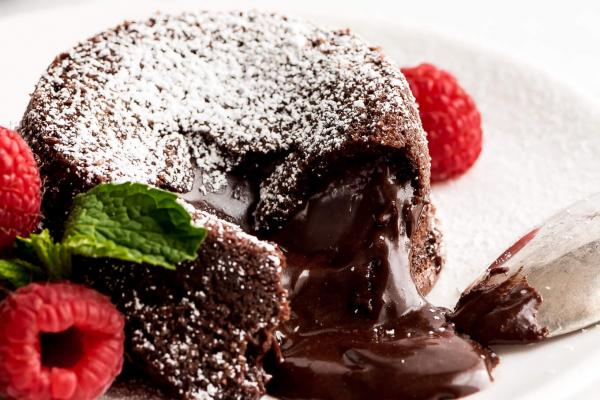 BBQ Chocolate Molten Lava Cake