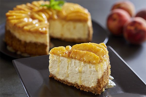 Seasonal Peach Cheesecake image 1