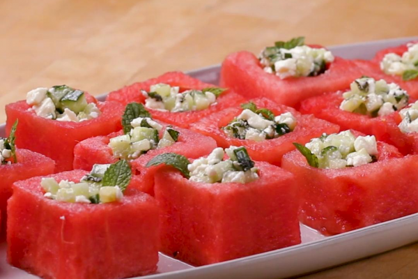Feta and Mint Watermelon Cups post image on the-journal.es