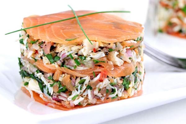 Crab & Smoked Salmon Stack image 1