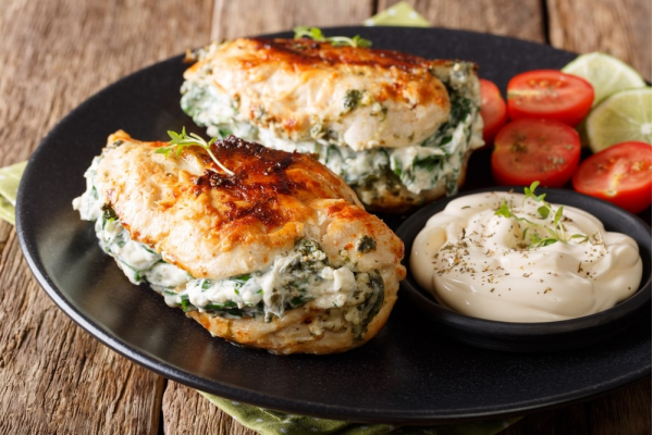Stuffed Chicken Breast – Baked Spinach