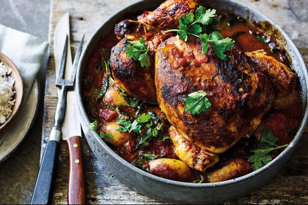 Pot-roast Bombay chicken post image on the-journal.es