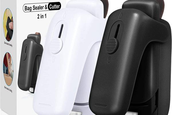 2 Pcs Bag Sealer, Mini Bag Sealer Clips, 2 in 1 Mini Bag Heat Sealer image 1
